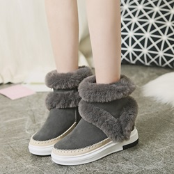Shoespie Plush Platform Fluffy Ankle Snow Boots