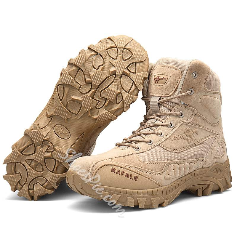 Shoespie Lace Up Outdoor Desert Mlitary Tactical Men's Boots