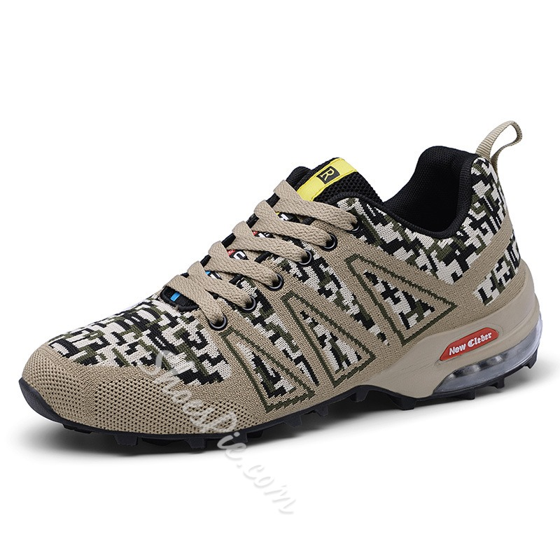 Shoespie Mesh Cushion Camouflage Sports Men's Sneakers