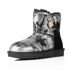 Shoespie Casual Warm Hasp Flat Snow Boots