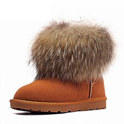 Shoespie Casual Fluffy Slip-On Snow Boots