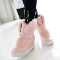 Shoespie Hidden Elevatoe Heel Fluffy Snow Ankle Boots