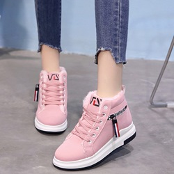 shoespie Stylish Platform Round Toe Lace Up Sneakers