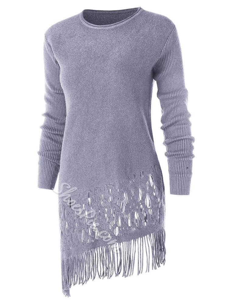 Fringe Hollow Fall Women's Casual Dress