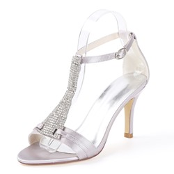Shoespie Rhinestone T-Shaped Buckle Dress Sandals