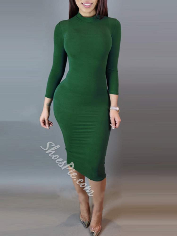 Turtleneck Fall Sexy Pullover Women's Sheath Dress