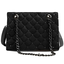 Shoespie Korean Plaid PU Thread Rectangle Crossbody Bags