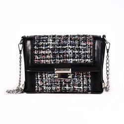 Shoespie Chain PU Rectangle Crossbody Bags