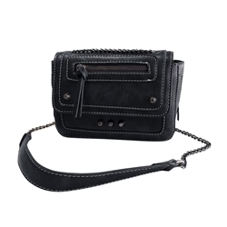 Shoespie Rivet PU Plain Rectangle Crossbody Bags
