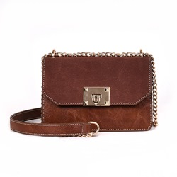 Shoespie PU Plain Japanese Chain Rectangle Crossbody Bags