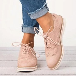 Shoespie Casual Lace-Up Round Toe Flat Loafers