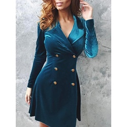 Velet Notched Lapel Women's Bodycon Dress