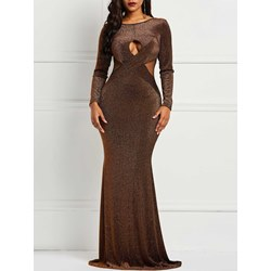 Backless Hollow Lace Women's Maxi Dress