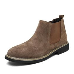Shoespie Elastic Slip-On Chelsea Men's Ankle Boots