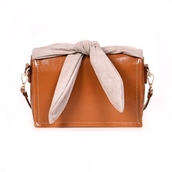 Shoespie PU Japanese Plain Bowtie Rectangle Crossbody Bags