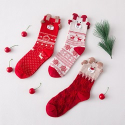 Cartoon Animal Design Cute Christmas Socks