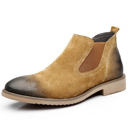 Shoespie Round Toe Chelsea PU Men's Ankle Boots