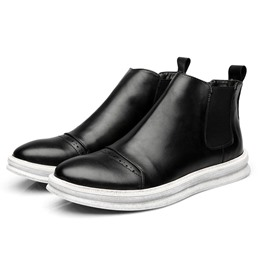Shoespie Fashion Patchwork Round Toe Men's Boots
