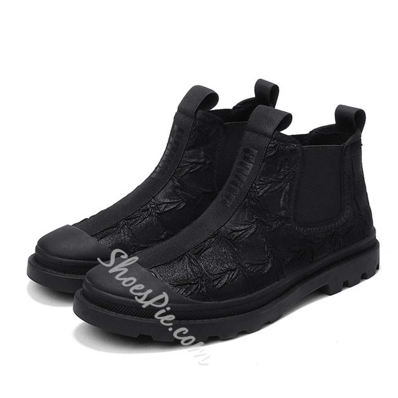 Shoespie Fashion Boots Letter Round Toe Canvas Boots