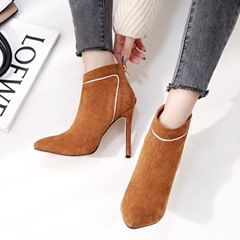Shoespie Trendy Stiletto Heel Back Zip Ankle Boots