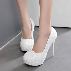 Shoespie Sexy Round Toe Platform Slip-On Stiletto Heels