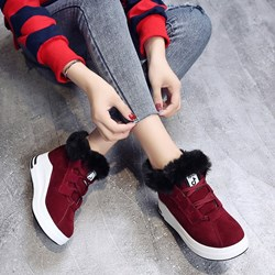 Shoespie Casual Round Toe Platform Warm Sneakers