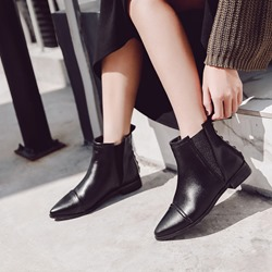 Shoespie Sexy Black Elastic Chelsea Ankle Boots