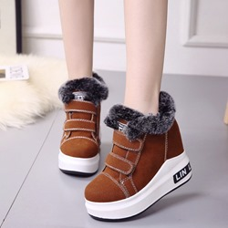 Shoespie Casual Hidden Elevator Heel Warm Sneakers
