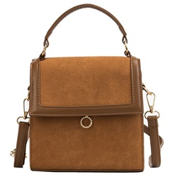 Shoespie PU Thread Plain Rectangle Crossbody Bags