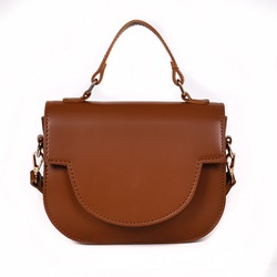 Shoespie Plain Thread PU Saddle Crossbody Bags