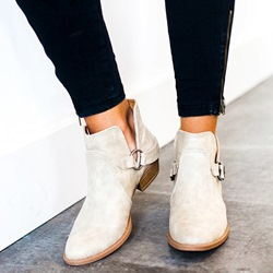 Shoespie Sexy Slip-On Plain Block Heel Ankle Boots
