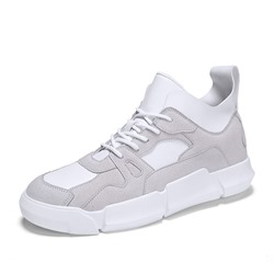 Shoespie Mid-Cut Upper Lace-Up Round Toe Men's Sneakers