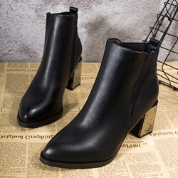 Shoespie Trendy Elastic Chunky Heel Ankle Boots
