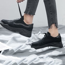 Shoespie Stylish Round Toe Platform Low-Cut Upper Sneakers