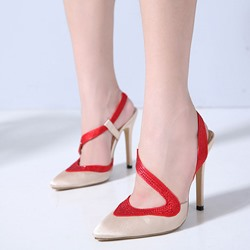 Shoespie Sexy Slip-On Slingback Strap Stiletto Heels