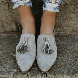 Shoespie Casual Fringe Slip-On Round Toe Flat Loafers