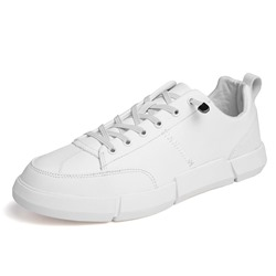 Shoespie Lace-Up Plain Round Toe Skate Men's Sneakers