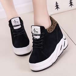 Shoespie Sexy Low-Cut Upper Lace-Up Suede Sneakers