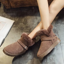 Shoespie Stylish Round Toe Platform Short Snow Boots