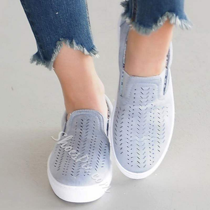 Shoespie Casual Hollow Slip-On Round Toe Loafers