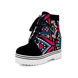Shoespie Trendy Lace-Up Round Toe Casual Ankle Boots