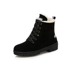 Shoespie Trendy Lace-Up Round Toe Snow Ankle Boots