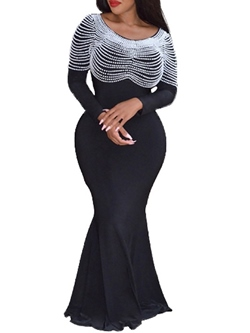 Ankle-Length Long Sleeve Mermaid Women's Bodycon Dress