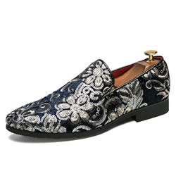 Shoespie Low-Cut Sequins Slip-On Round Toe Men's Loafers