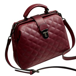 Shoespie Quilted Lining Plaid PU Flap Tote Bags