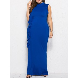 Falbala Cap Sleeve Pullover Bodycon Women's Maxi Dress