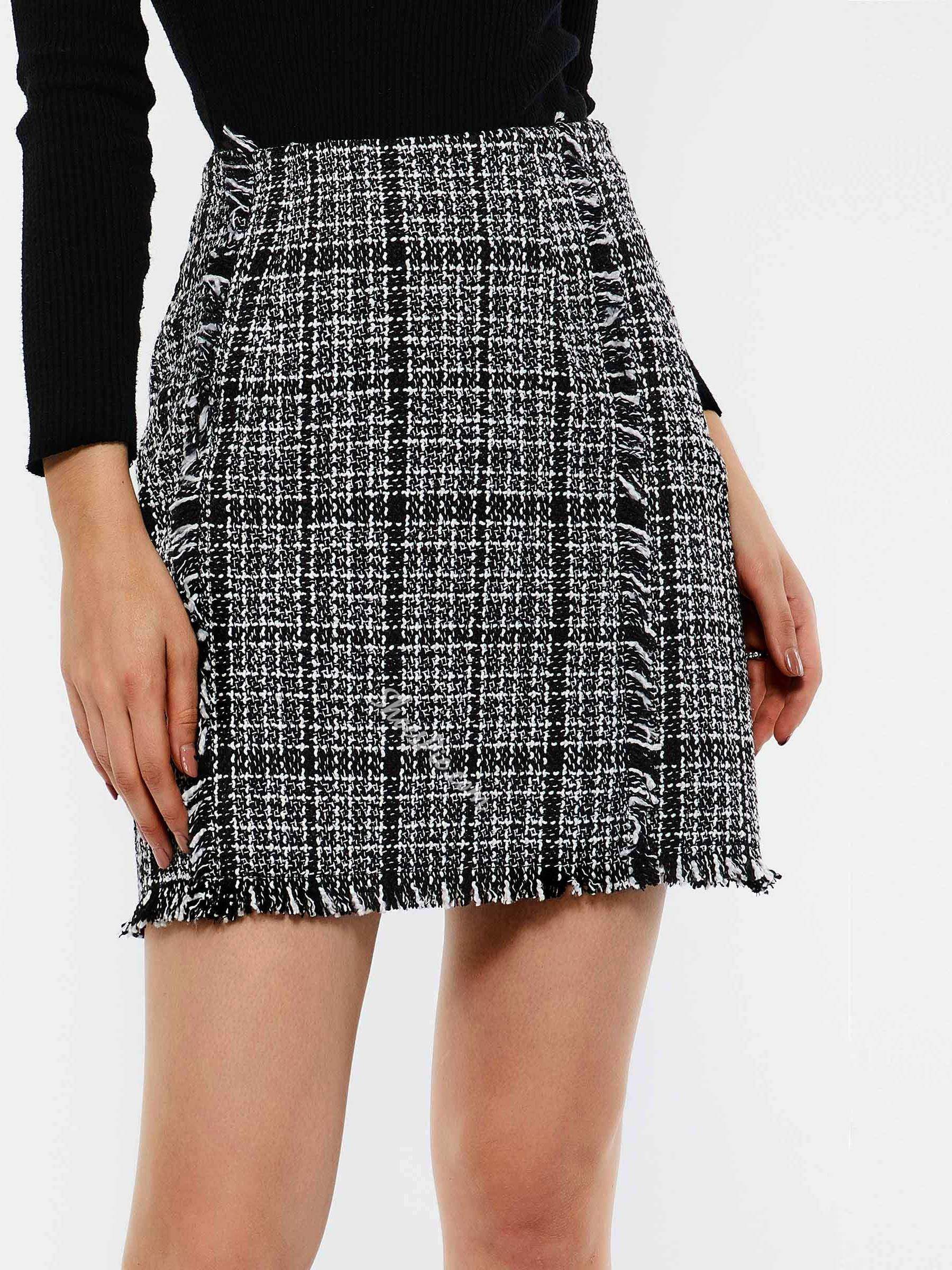 Bodycon Zipper High-Waist Women's Mini Skirt