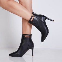 Shoespie Buckle Beads Stiletto Heel Ankle Boots