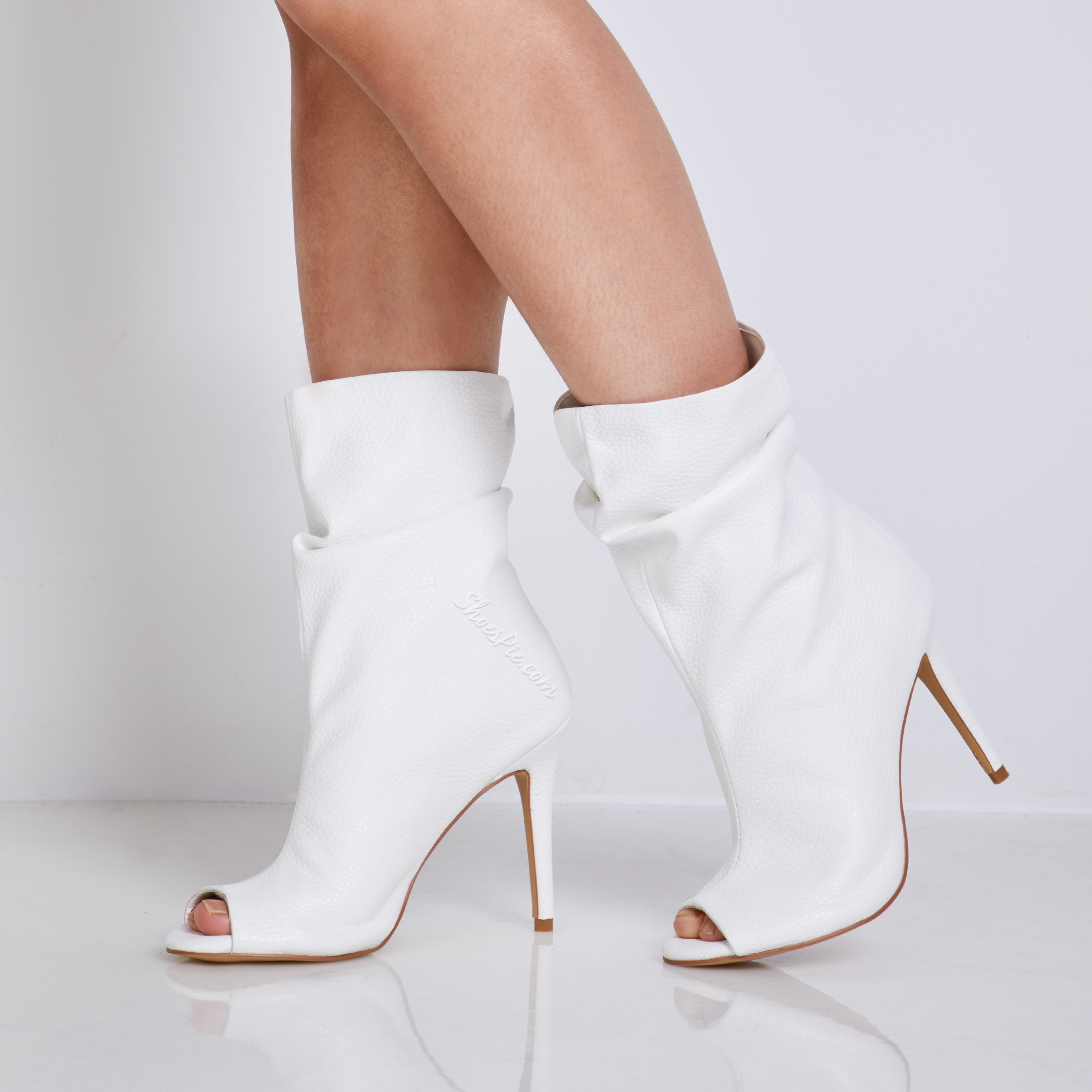 Shoespie Peep Toe Stiletto Heels High Heel Boots