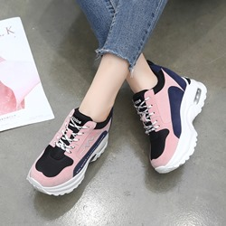 Shoespie Stylish Platform Lace-Up Casual Sneakers
